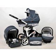 Eco Lux újszülótt babkocsi (rózsa)