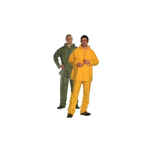 Zöld és sárga PVC ruha