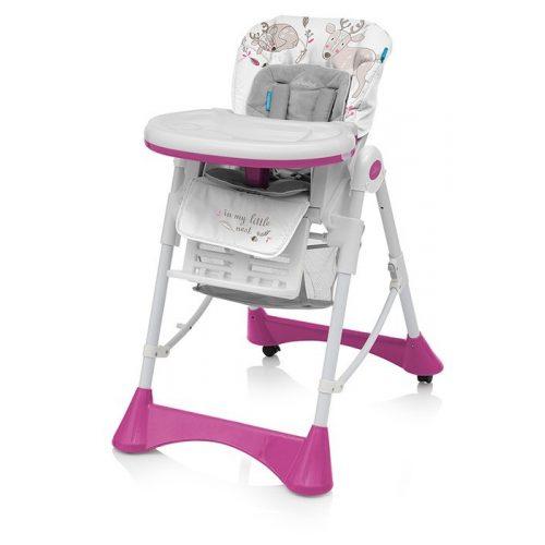 Baby Design PEPE pink multifunkciós etetőszék