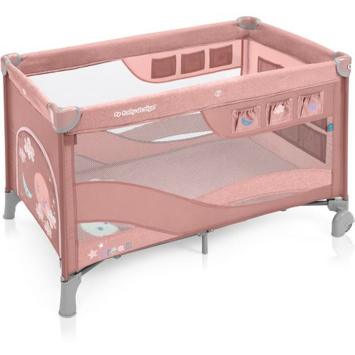 Baby Design Dream Regular multifunkciós utazóágy pink