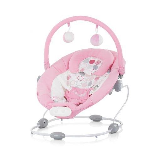 Chipolino Siesta rezgő-zenélő pihenőszék pink